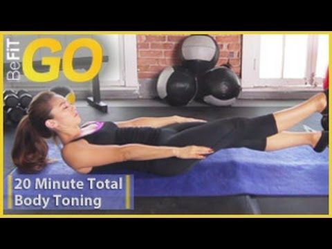 BeFiT GO: 20 Min Total Body Toning Workout - YouTube