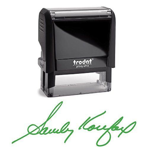 Black Ink, Signature Stamp, Self Inking. Your Own Signature Customized into the Best Quality Stamper. Great For Regular Signing. Color Options Available. Sign Off Checks, Contracts, Certificates by Pixie Perfect Signature Stamps, http://www.amazon.com/dp/B06Y3LV9VH/ref=cm_sw_r_pi_dp_x_3JHuzbRQYT5K1