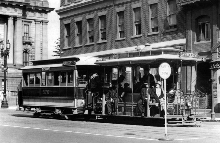 1940 Last Cable Tram service Bourke Street