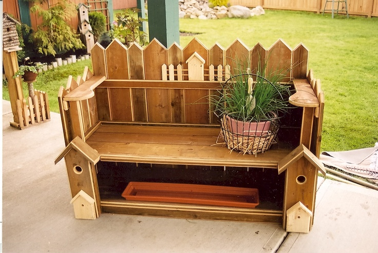 Bench Made From Old Fence Wood Things I Made