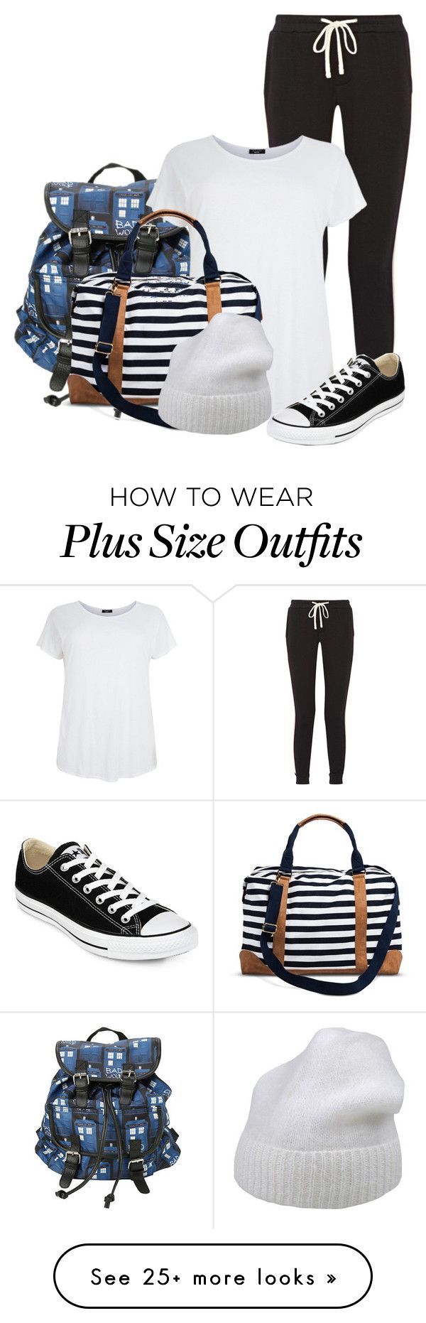 """""""Road trip //Mara"""" by misscreepyashell on Polyvore featuring James Perse, Merona, Forte Forte and Converse"""