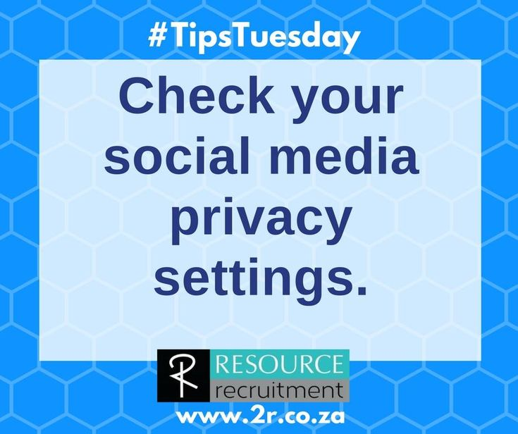 The majority of the time, before you get the job, or even the interview, prospective employers will go checking your social media profiles. If you don't want them judging you on this, make sure your privacy settings are activated. This is particularly important if you are applying for jobs off social media sites.  For more interview tips and advice, visit RESOURCE recruitments website at www.2r.co.za. #resourcerecruitment #jobseekingtips #tipstuesday