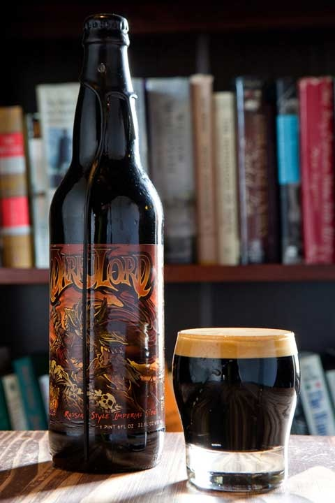 Dark Lord: Russian Style Imperial Stout, brewed with Intelligensia coffee, Mexican vanilla, and Indian sugar. Only Available one day a year in April, Dark Lord Day.