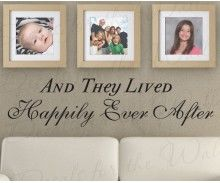 Aww! so cute! Valentine's Day!| They Lived Happily Ever After Love Family Wall Decal Quote