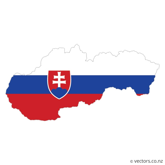 Flag Vector Map of Slovakia - Vectors