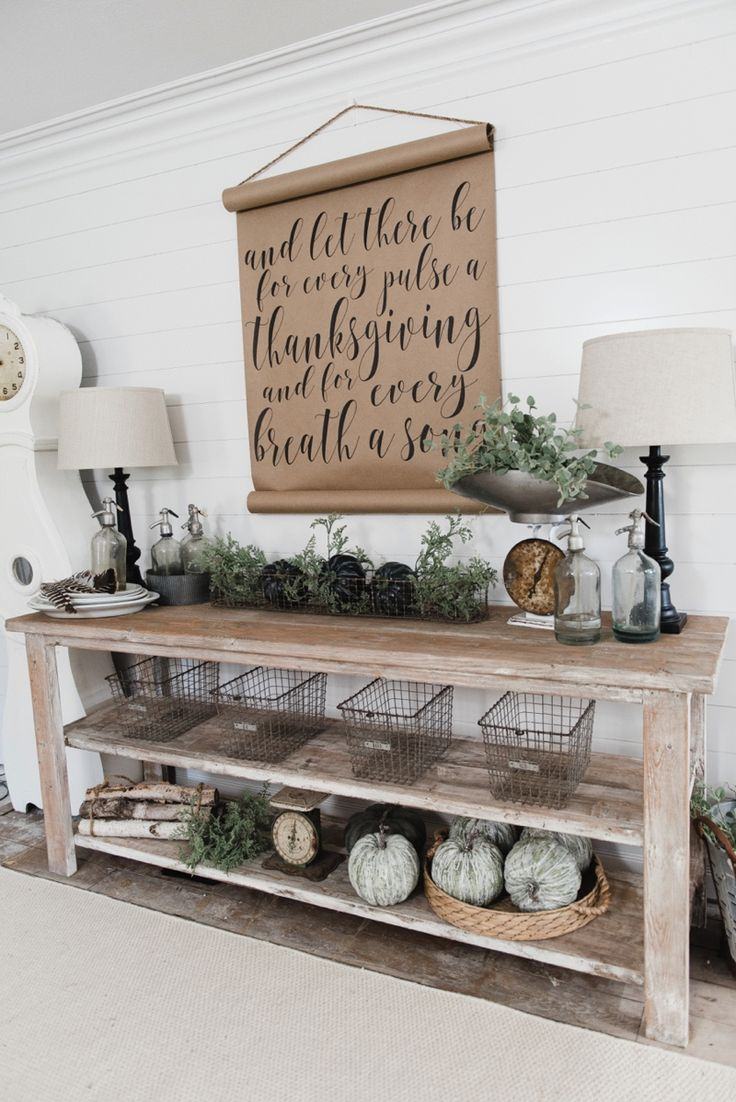 DIY Farmhouse Style Buffet Dining room buffet, Farmhouse