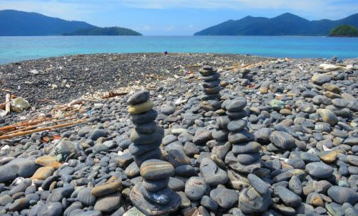 Choose your stone for memories. Thailand, Koh Hin Ngam Island