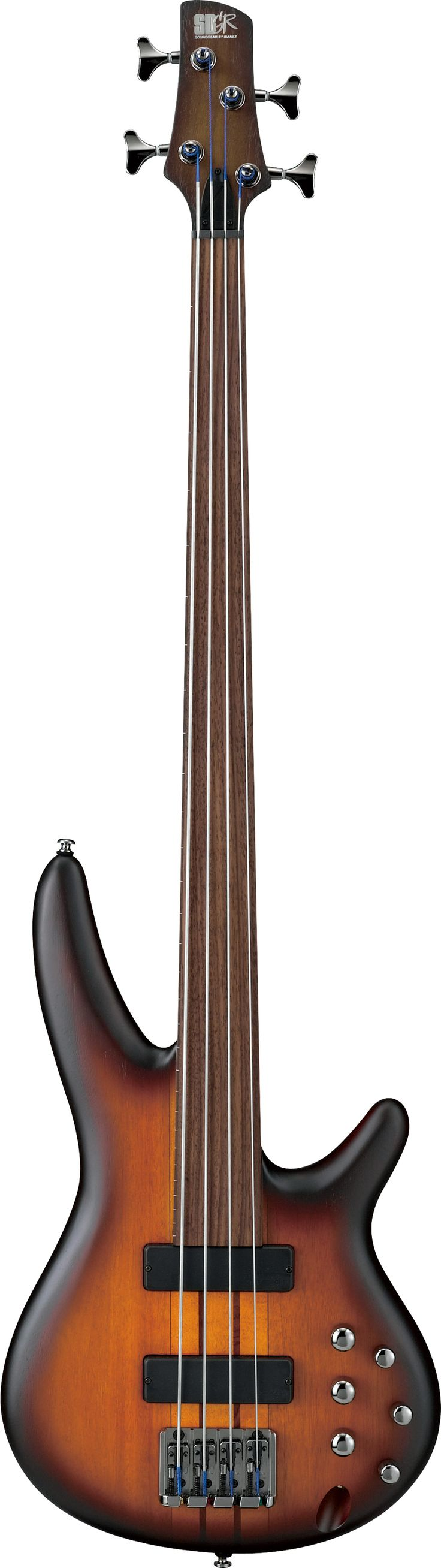 Ibanez SRF700BBF Workshop Fretless Bass Guitar Brown Burst Flat