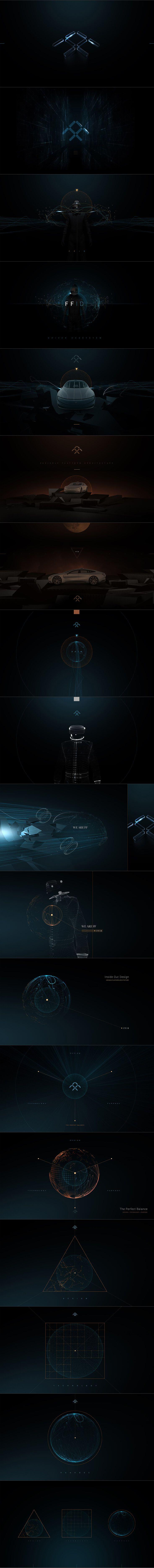 Faraday Future - Interactive design concepts by Eric Jordan [Set 1] #design #webdesign #website