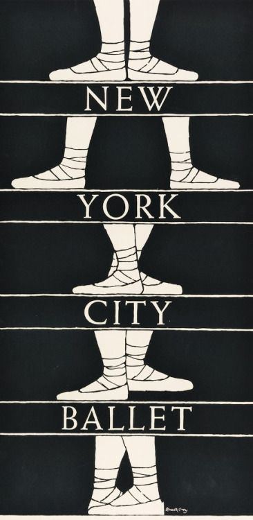 A very pleasing poster design from 1974 and the slightly unexpected hand of Edward Gorey.