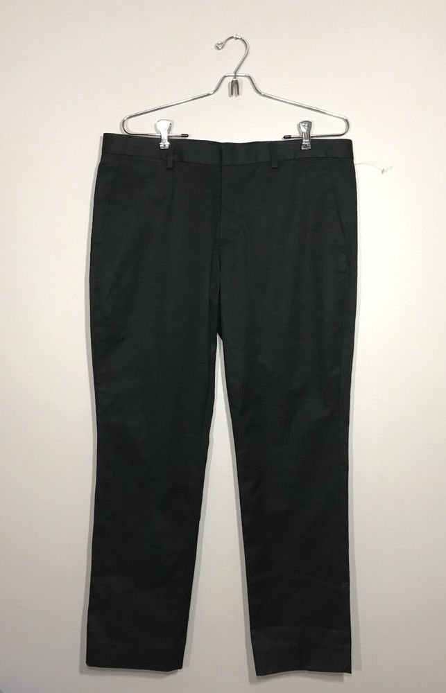 Express New Mens Innovator Dress Pants Black Skinny Fit Msrp 70 Sz