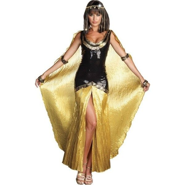 Cleopatra Sexy Adult Costume - Cleopatra Egyptian Costumes ❤ liked on Polyvore featuring costumes, adult costume, sexy women costumes, adult cleopatra costume, cleopatra costume and sexy adult costumes