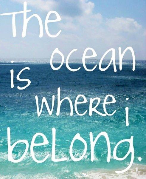 The ocean is where i belong