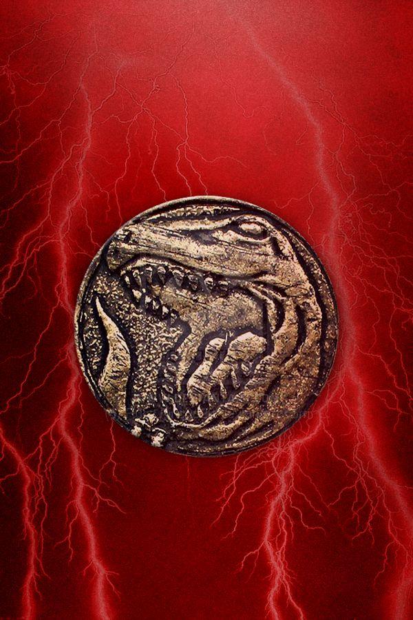MMPR Red Ranger Tyranno Coin iPhone Wallpaper by RussJericho23.deviantart.com on @deviantART