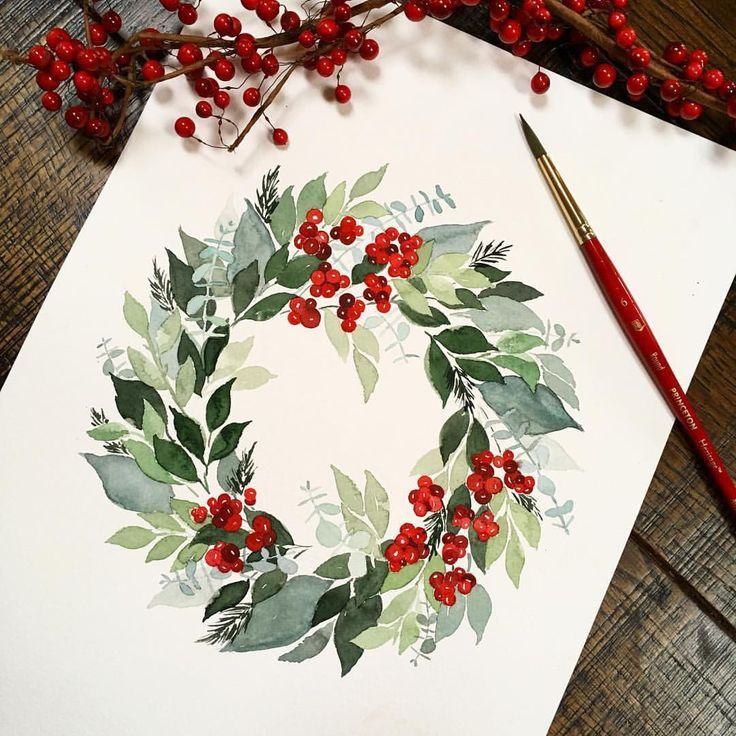 10 Watercolor Hacks For Beginners Watercolor Christmas Cards