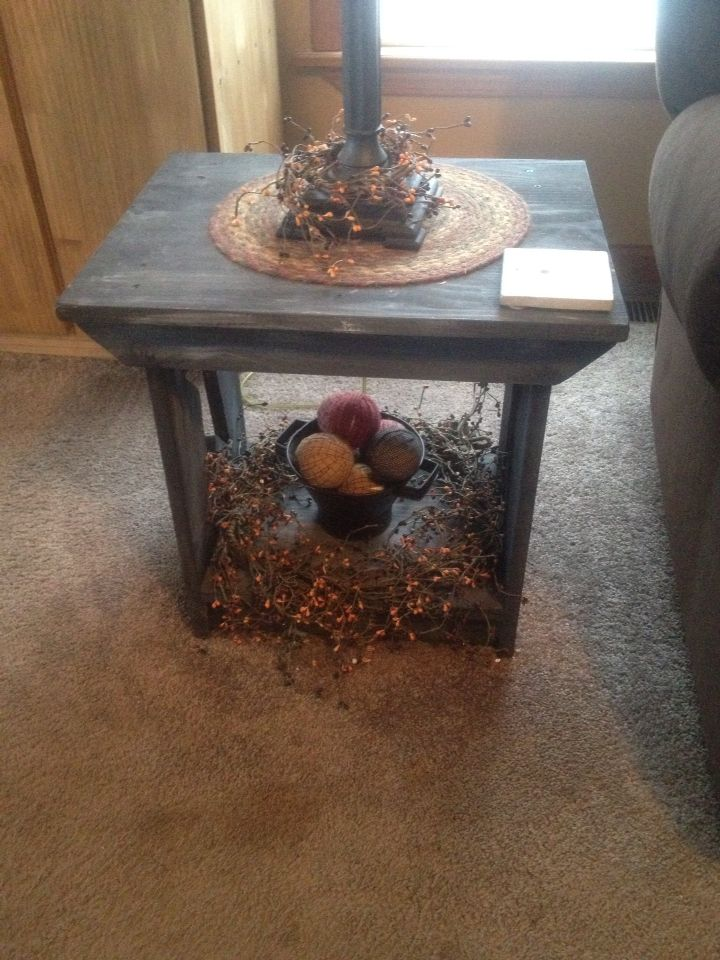 End Tables I Made For My Living Room Just Primitive