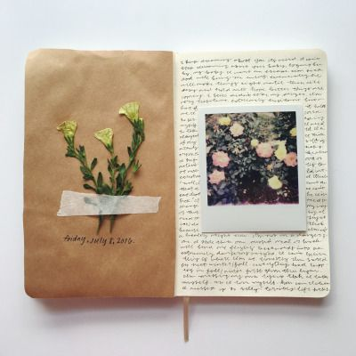Pretty art journal / Writing and photography.