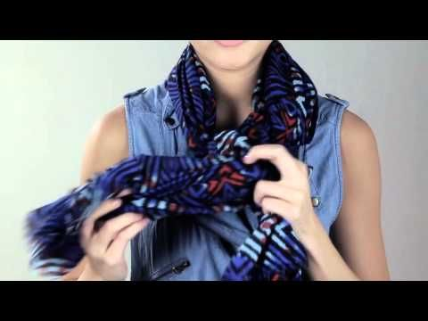 Cost Plus World Market -- How to Tie a Scarf: Side Style Braid >> #WorldMarket Fashion Scarves
