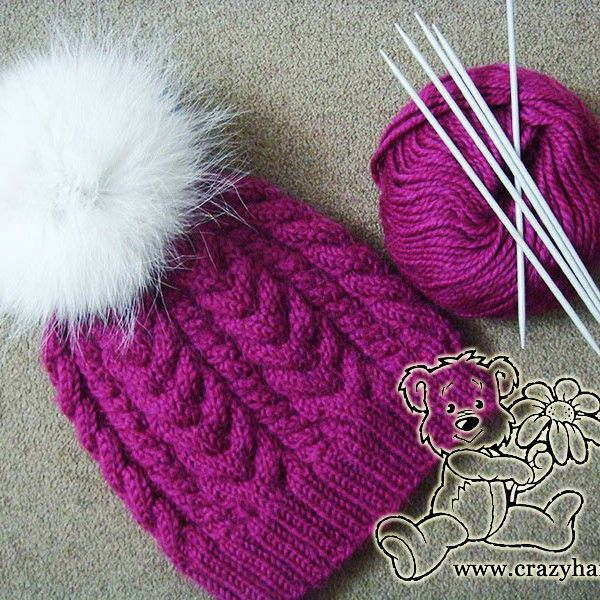Snowy Scene Cable Hat  10d0bb811fe