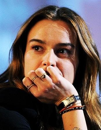 Kasia Smutniak wearing Atelier VM rings