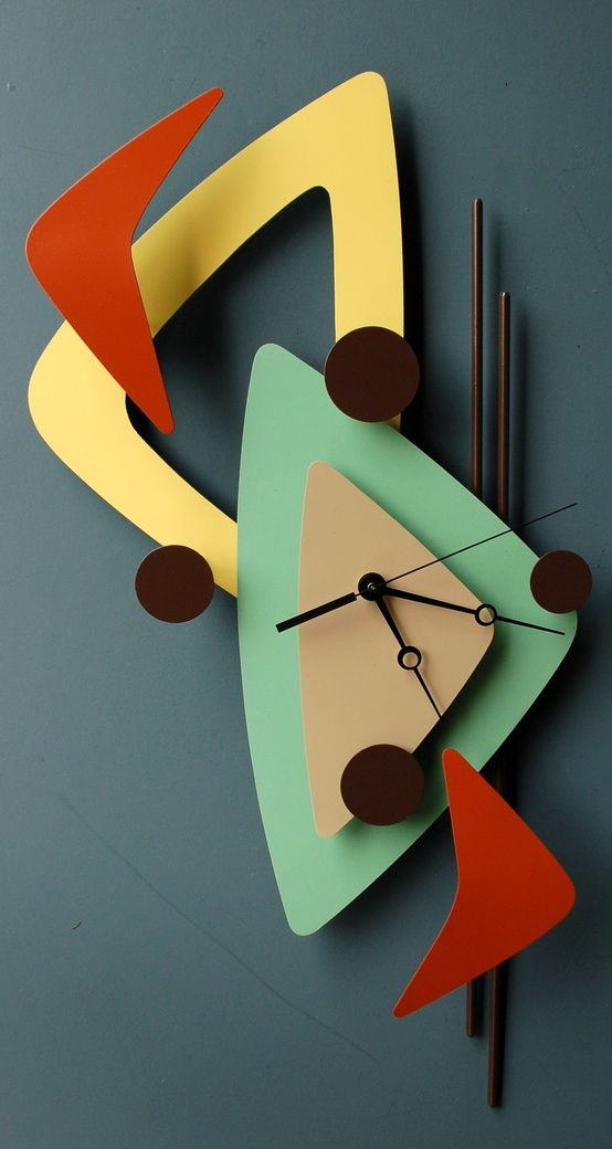Retro / Vintage Atomic Mid Century Modern  Clock - Love this. If I had one, I'd certainly put it up!