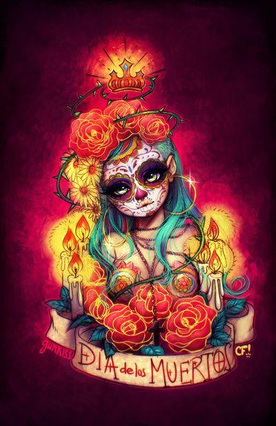 dia de los muertos arte | Día de los Muertos Art Print