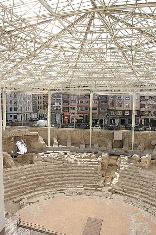 Roman remains in Zaragoza Spain-CaesarAugustus