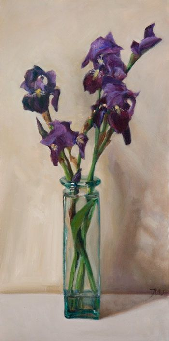 Daily Paintings Irises In A Vase Postcard From