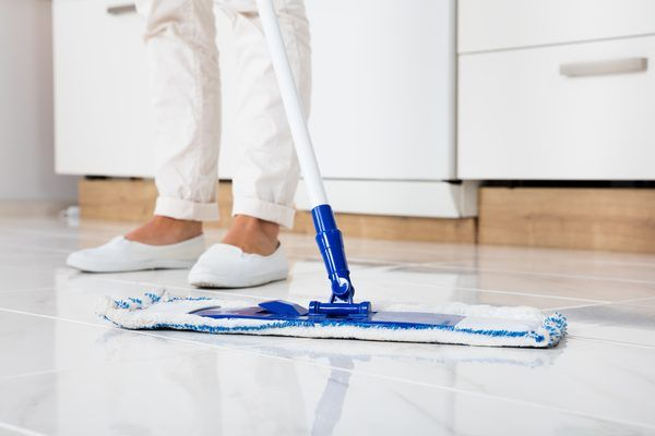 How To Use Vinegar For Cleaning Porcelain Or Tile Floors Cleaning Tile Floors Vinegar Cleaning Clean Tile