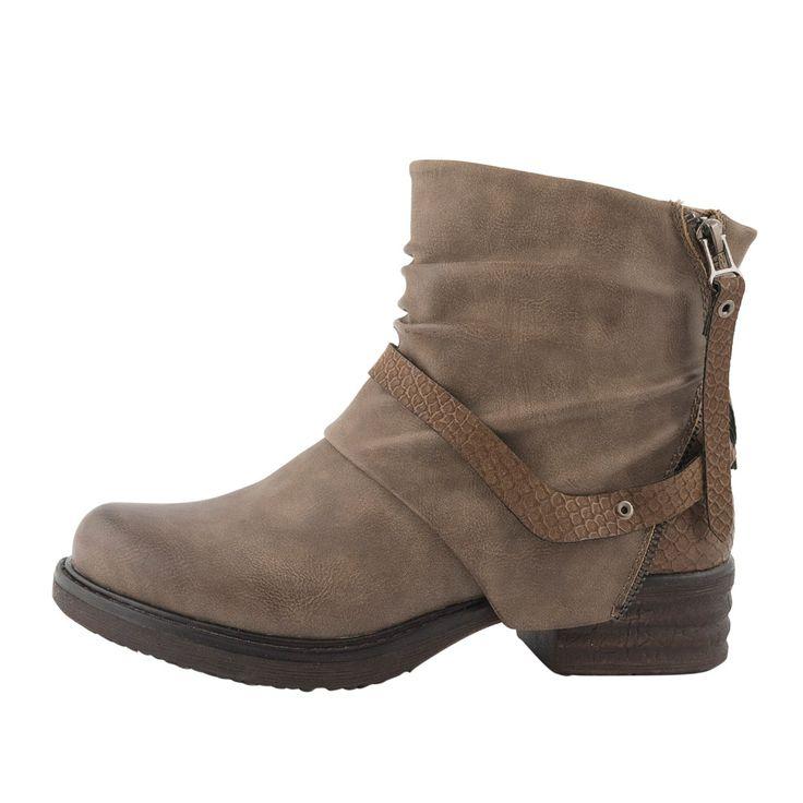 Για τις ροκ, streetstyle διαθέσεις σου, μοναδικό μποτάκι σε φανταστικό χρώμα!   streetstyle biker boots #topshoes_gr
