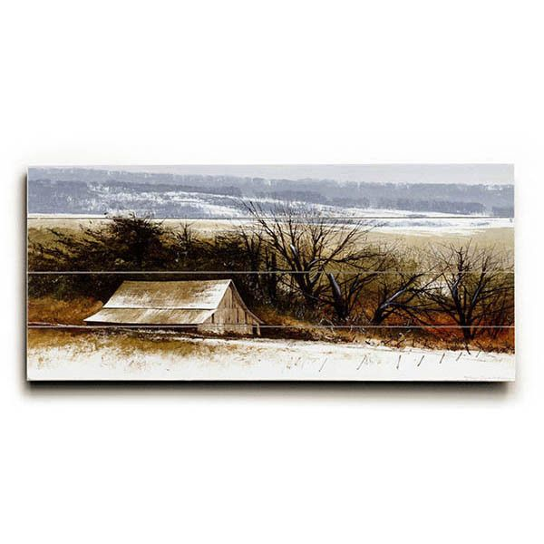 Winter White by Artist Miguel Dominguez Wood Sign