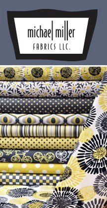 Michael Miller Fabrics  Citron Gray Fat Quarter by StitchinStash, $14.00