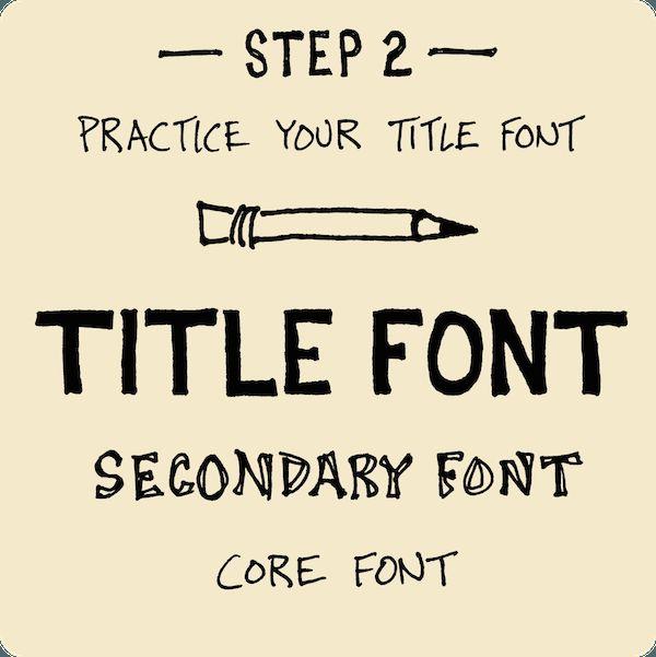 Step 2 Practice Title Font