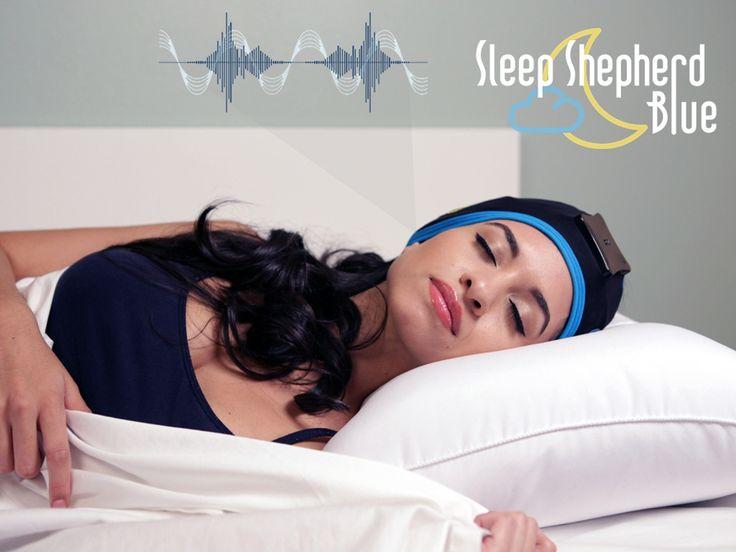 The Sleep Shepherd Blue uses brainwave sensors and binaural beats in a biofeedback loop to improve sleep quality and tracking accuracy.