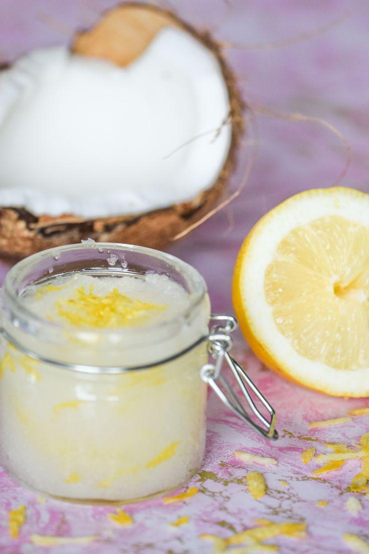 DIY Zucker Peeling mit Kokos & Zitrone