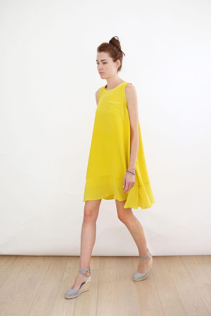 Sunny silks by SVILU. Made in NYC, 100% silk: http://aboynamedsue.co/shop/item/svilu/dress/marigold-tent-dress/