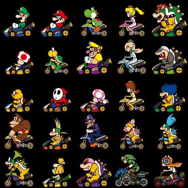 Mario Kart 8 Deluxe Characters I Love Video Games