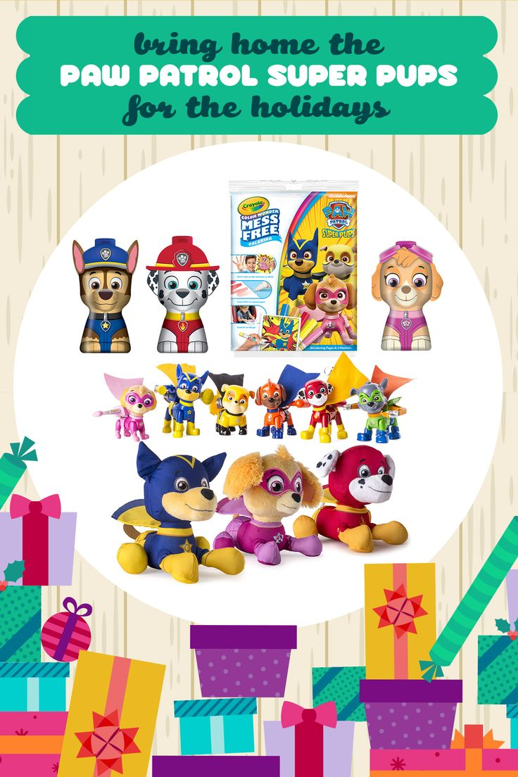 Enter the 12 Days of Nick Jr. Sweepstakes for your chance to win this PAW Patrol Super Pups gift pack and other prizes! If you're looking for the perfect holiday gift for your preschool-aged PAW patrol fan, snag this awesome pack off their wishlist, full of PAW Patrol stocking stuffers, stuffed animals, figures, and more.