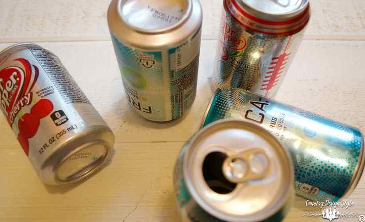 She rinses out soda cans, and we are SO doing this on our front door