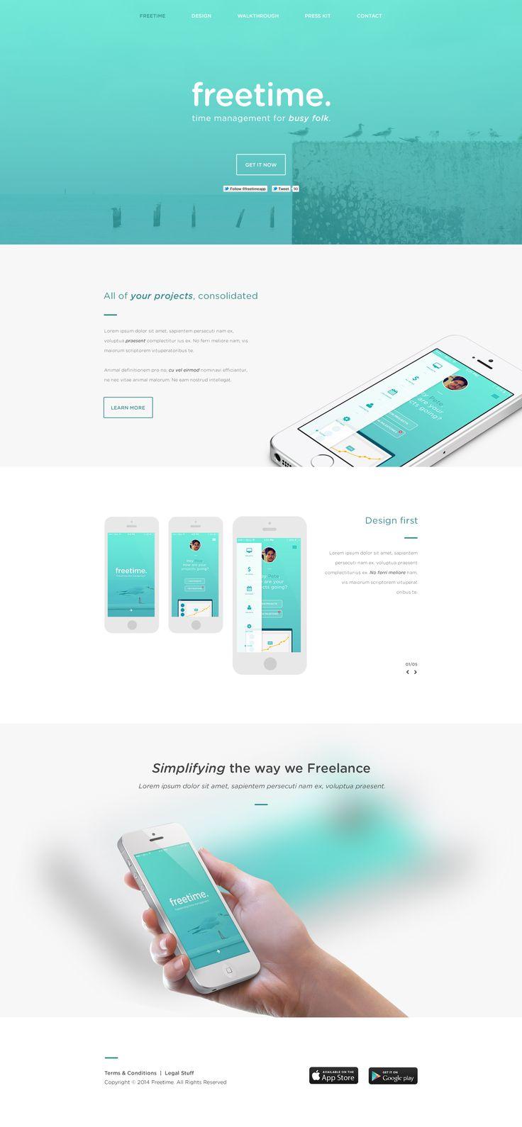 Unique Web Design, Freetime #WebDesign #Design (http://www.pinterest.com/aldenchong/)