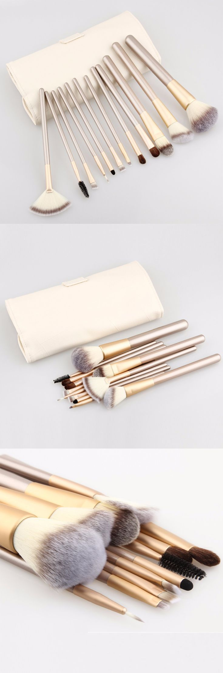 Hotrose Makeup Brushing Brush Set 12/18 pcs Soft Synthetic Professional Cosmetic Makeup Foundation Powder Blush Eyeliner Brushes