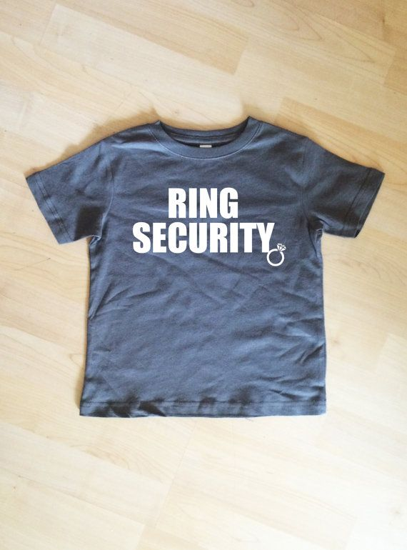 RING Security Shirt Bridal Party Shirt Charcoal Gray Shirt