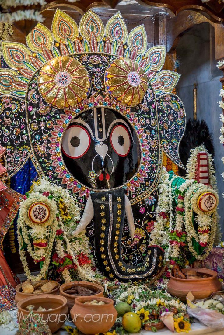 Jagannath dressed as elephant, Snana Yatra Mayapur