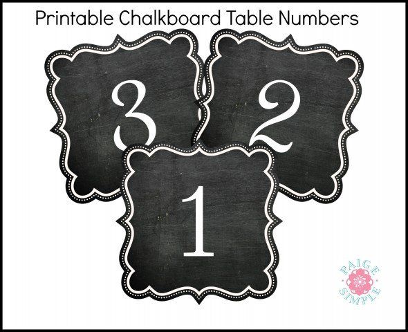 chalkboard table numbers ~ 17 best images about rustic wedding printables on