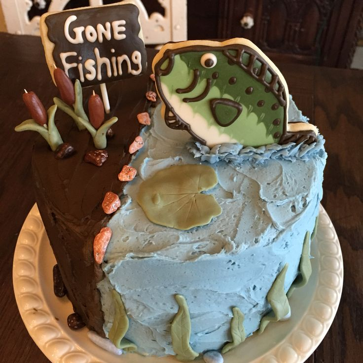 The 25 best gone fishing cake ideas on pinterest for Gone fishing cake