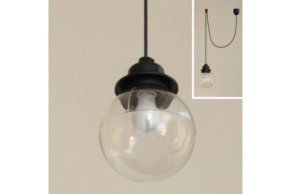 黒×クリア   ガラスボール照明   R不動産 toolbox