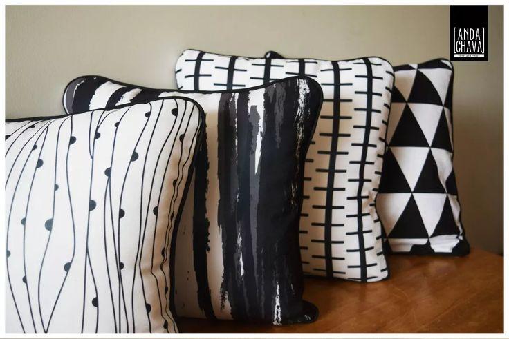 almohadones de diseño estampados - decoración 40x40