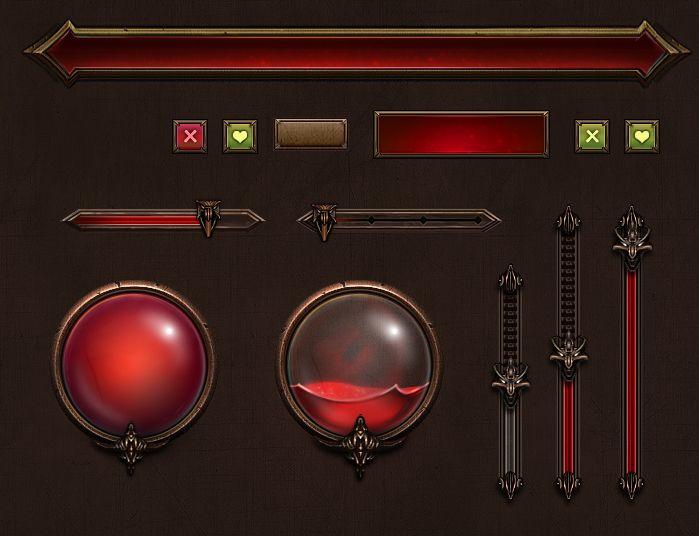 临摹了一组组件 |GAMEUI- 游戏设计圈聚集地 | 游戏UI | 游戏界面 | 游戏图标 | 游戏网站 | 游戏群 | 游戏设计