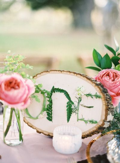 Floral DIY table markers