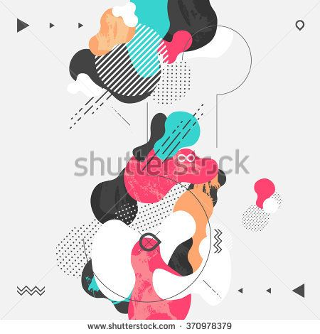 Abstract modern geometric background